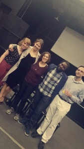 From left to right: Jackie Renee Robinson (Actress/Rosalinda), Lauren Karaman (Actress/Ariana), Alexa Reass (Producer), Edward Varnie (Director/Writer/Producer) and Graham Waldrop (Writer/Producer)